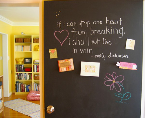chalkboard-painted-door